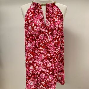 MICHAEL KORS PINK FLOWER CHAIN TOP